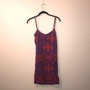 asos tribal print spaghetti strap bodycon dress